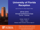 University of Florida Reception – APHA 2016 – Denver Colorado