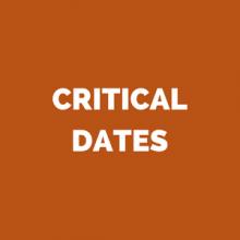 critical dates