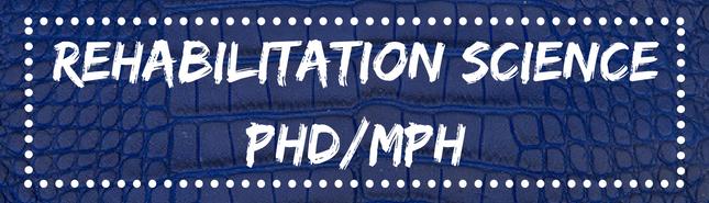 rehabilitation science phd / MPH
