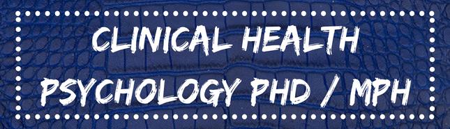 clinical health psychology phd / MPH