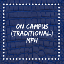 on campus (traditional) mph