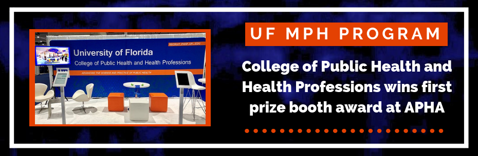 PHHP takes first prize booth award at APHA